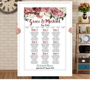 Dusky Pink Rose Seating Chart